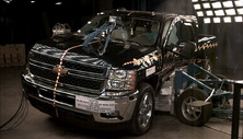 NCAP 2013 Chevrolet Silverado 2500 side crash test photo