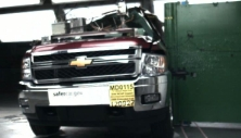 NCAP 2013 Chevrolet Silverado 2500 side pole crash test photo