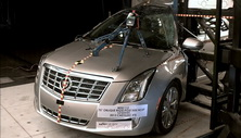 NCAP 2013 Cadillac XTS side pole crash test photo