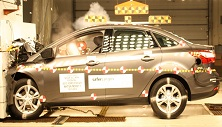 2013 Ford Focus 4 DR FWD after frontal crash test