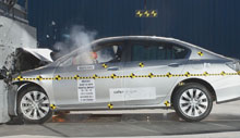 2013 Honda Accord 4 DR FWD after frontal crash test