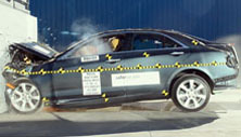 NCAP 2013 Cadillac ATS front crash test photo