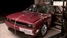 NCAP 2013 Dodge Challenger side pole crash test photo