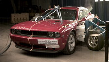 NCAP 2013 Dodge Challenger side crash test photo