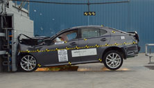 2013 Lexus IS250 4 DR RWD after frontal crash test