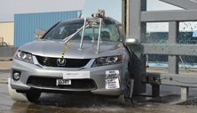2013 Honda Accord 2 DR FWD after side pole crash test