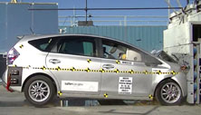 NCAP 2013 Toyota Prius v front crash test photo