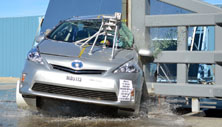 NCAP 2013 Toyota Prius v side pole crash test photo