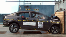 NCAP 2013 Honda Civic Hybrid front crash test photo