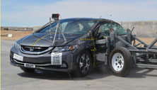 NCAP 2013 Honda Civic Hybrid side crash test photo