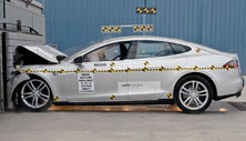 2013 Tesla Model S 5 HB RWD after frontal crash test