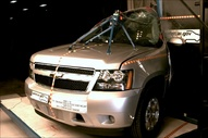 NCAP 2014 Chevrolet Tahoe side pole crash test photo