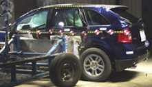 2014 Ford Edge SUV FWD after side crash test