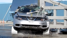 NCAP 2014 Nissan Murano side pole crash test photo