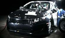 NCAP 2014 Kia Optima side crash test photo
