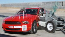 NCAP 2014 Ford Mustang side crash test photo