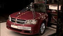 NCAP 2014 Dodge Avenger side pole crash test photo