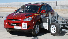NCAP 2014 Hyundai Tucson side crash test photo
