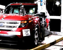 NCAP 2014 Ford Explorer side pole crash test photo
