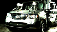 NCAP 2014 Honda Pilot side pole crash test photo