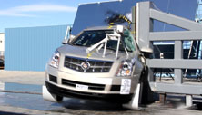 NCAP 2014 Cadillac SRX side pole crash test photo