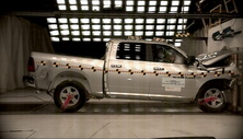NCAP 2014 Ram 1500 front crash test photo