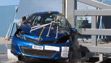 NCAP 2014 Toyota Yaris side pole crash test photo