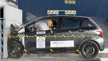 NCAP 2014 Toyota Yaris front crash test photo