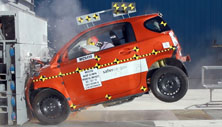 NCAP 2014 Scion iQ front crash test photo