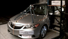 NCAP 2014 Acura ILX side pole crash test photo