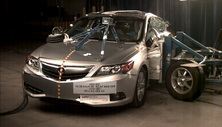 NCAP 2014 Acura ILX side crash test photo