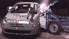 NCAP 2014 Fiat 500 side crash test photo