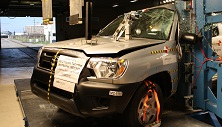 NCAP 2014 Toyota Tacoma side pole crash test photo