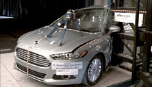 NCAP 2014 Ford Fusion side pole crash test photo