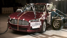 NCAP 2014 Ford Fusion side crash test photo