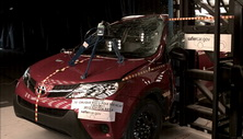 NCAP 2014 Toyota RAV4 side pole crash test photo
