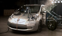 NCAP 2014 Nissan Leaf side crash test photo