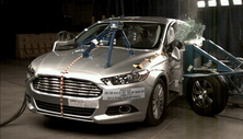NCAP 2014 Ford Fusion Energi side crash test photo