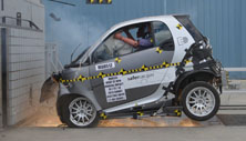 2014 Smart ED 2 DR RWD after frontal crash test
