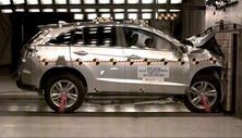 2014 Acura RDX SUV AWD after frontal crash test