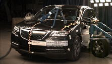 NCAP 2014 Acura MDX side crash test photo