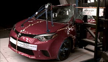 NCAP 2014 Toyota Corolla side pole crash test photo