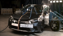 NCAP 2014 Toyota Corolla side crash test photo