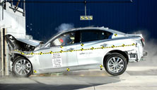 2014 Infiniti Q50 4 DR RWD after frontal crash test