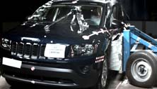 NCAP 2014 Jeep Compass side crash test photo