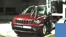 NCAP 2014 Jeep Compass side pole crash test photo