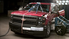 NCAP 2014 Chevrolet Silverado 1500 side crash test photo