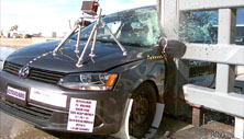 NCAP 2014 Volkswagen Jetta side pole crash test photo