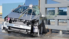 2014 Toyota Prius 5 HB FWD after side pole crash test