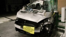 2014 Ford Fiesta 4 DR FWD after side pole crash test